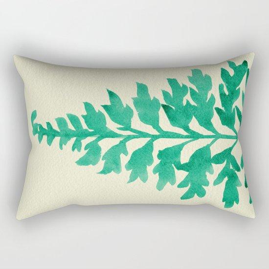Mint Fern Rectangular Pillow