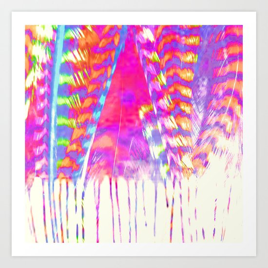 Liquid Feathers Art Print