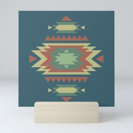 Southwest Geometric Tribal Indian Pattern Mini Art Print