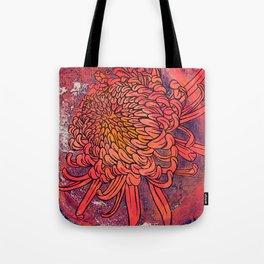 Chrysanthemum (Silk screen & fine liner) Tote Bag