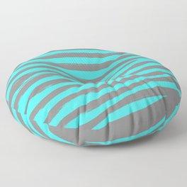 Aqua & Gray Stripes Floor Pillow