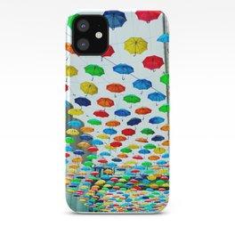 Heathrow Umbrellas iPhone Case