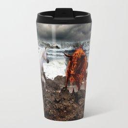 The Unicorn vs the Fire Bull Travel Mug