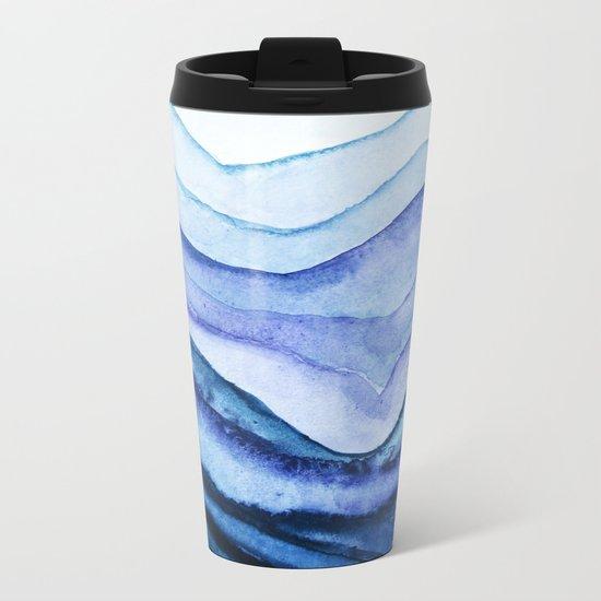 Washed Away Watercolor Metal Travel Mug