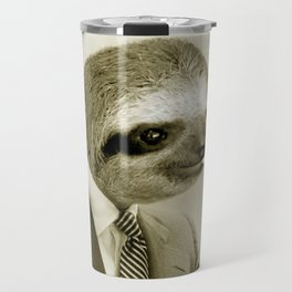 Sloth lighting a cigarette Travel Mug