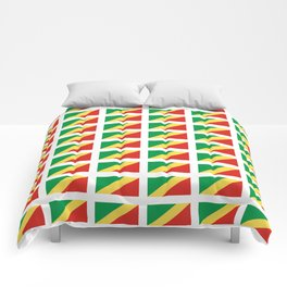 Flag of congo -congolais,congolaise,congolese,brazzaville,kongo,sangha,teke, m'bochi Comforters