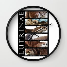 Otters of the World Wall Clock