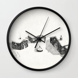 Le Village Wall Clock