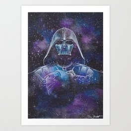 Darth Vader Galaxy Art Print