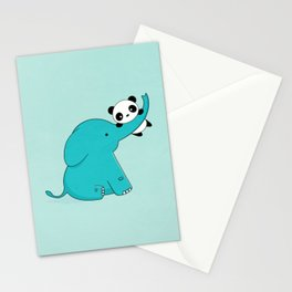 Kawaii Cute Panda and Elephant Stationery Cards