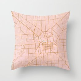 Pink and gold Adelaide map Throw Pillow