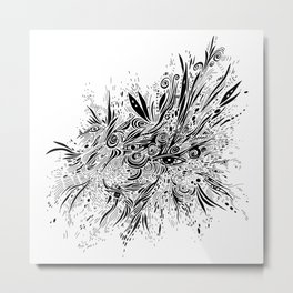 eye doodle, abstract sketch with eyes Metal Print