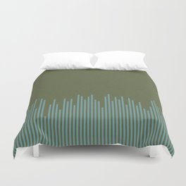 Line Up on swampy Duvet Cover