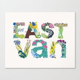 East Van colour Canvas Print