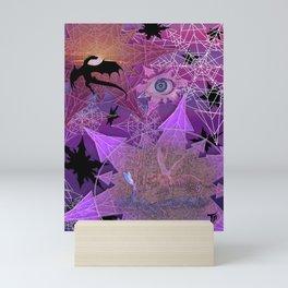 Snowflakes and Dragons Mini Art Print