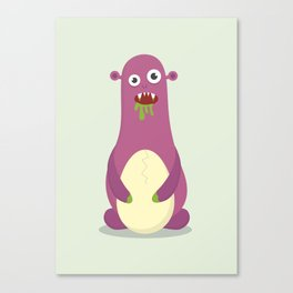 The Egg Monster Canvas Print
