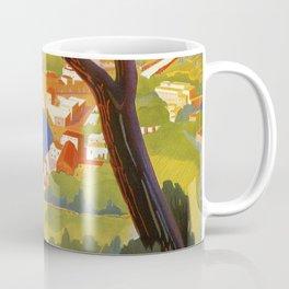 Ischia Island Italy summer travel ad Coffee Mug