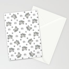 Cute owl pattern ethnic indian style Stationery Cards
