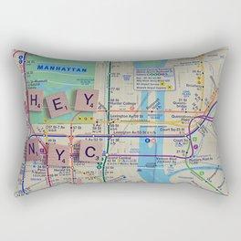 New York City, NYC Map, Subway, Travel Rectangular Pillow