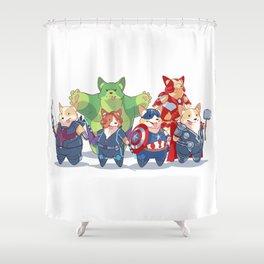 Corgvengers Shower Curtain