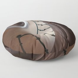 Pretty brown staircase Floor Pillow