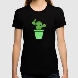 Cute cactus in green pot T-shirt