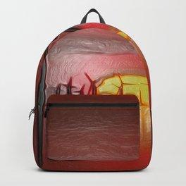 Windmills in the Sun (Digital Art) Backpack