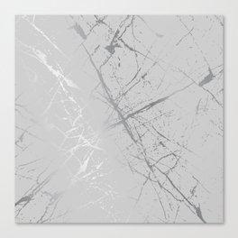 Silver Splatter 089 Canvas Print