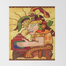 Encantador De Serpientes AZTEC Throw Blanket