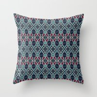 persian Throw Pillows featuring Persian Feel by lalaprints