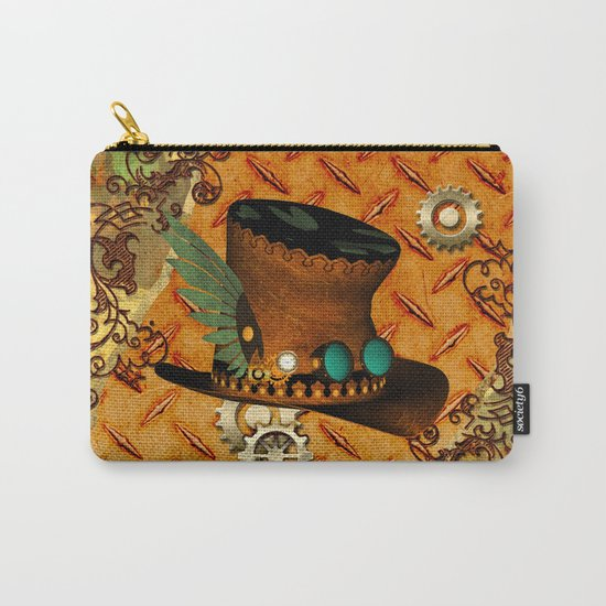 Steampunk, hat with clocks and gears Carry-All Pouch