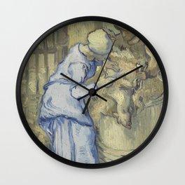 The Sheepshearer (after Millet) Wall Clock