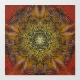 Inner Fire Digital kaleidoscope Art  Canvas Print