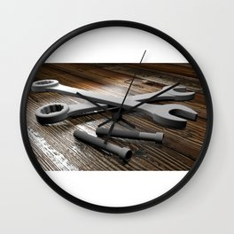 Wrenches Wall Clock