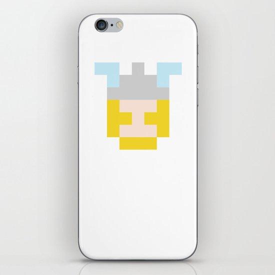hero pixel flesh yellow grey iPhone & iPod Skin