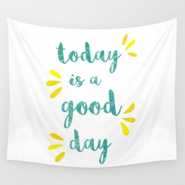 Good Day Print Wall Tapestry