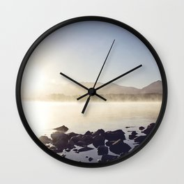 Morning Tekapo Mist Wall Clock