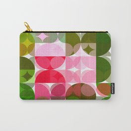 Pink Roses in Anzures 4 Abstract Circles 3 Carry-All Pouch