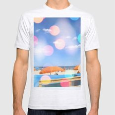 Beach Party SMALL Ash Grey Mens Fitted Tee