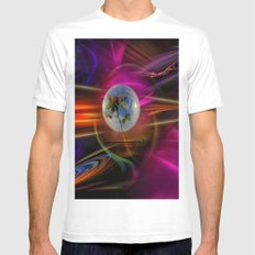Mysterious World - Love greetings MEDIUM Mens Fitted Tee White