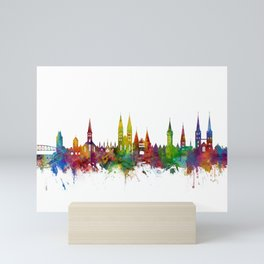 Lubeck Germany Skyline Mini Art Print