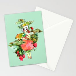 Picking Straberry採草莓 Stationery Cards
