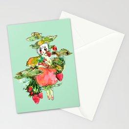 Picking Straberry採草莓 Stationery Cards