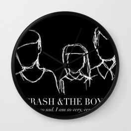 Crash And the Boys Black Edition Wall Clock