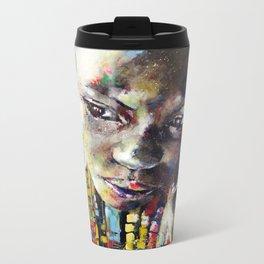 Reverie - Ethnic African portrait Metal Travel Mug