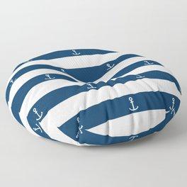 SAILORS ANCHOR STRIPES Floor Pillow