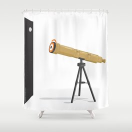 a glance to the stars Shower Curtain