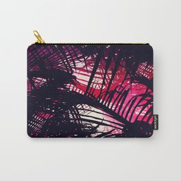 Tropical Purple and Red Sunset Palm Fronds Carry-All Pouch