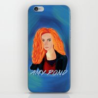 amy pond iPhone & iPod Skins featuring Amy Pond by STATE OF GRACCE