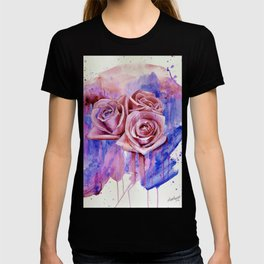 A ROSE BY ANY OTHER NAME- RED & BLUE  T-shirt